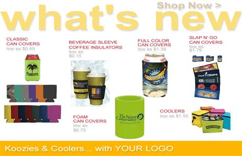 Customized can covers koozies, collapsible, houston, dallas, texas, fast, cheap, no minimum