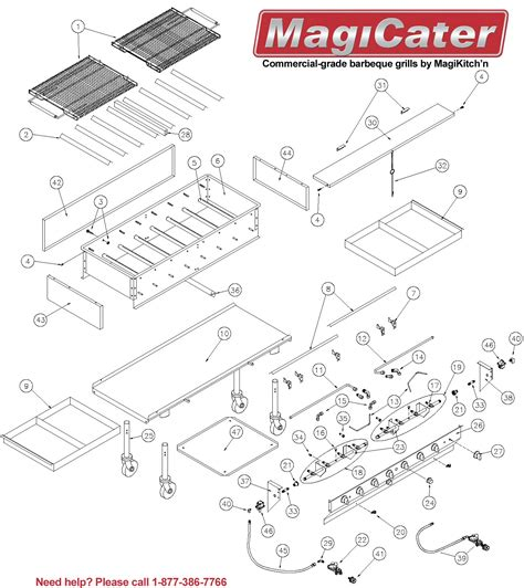 replacement parts  magicater outdoor gas charcoal