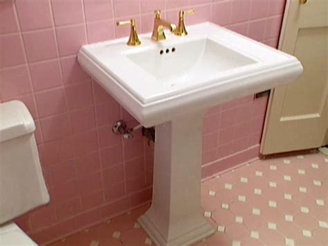 pedestal sink installation  tos diy