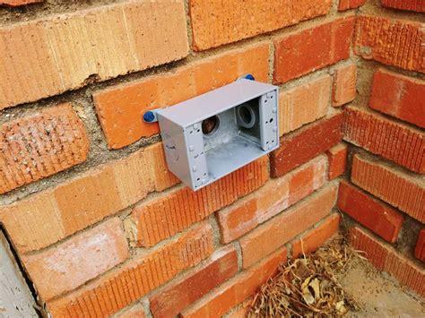 add an exterior outlet on a brick house homediygeek