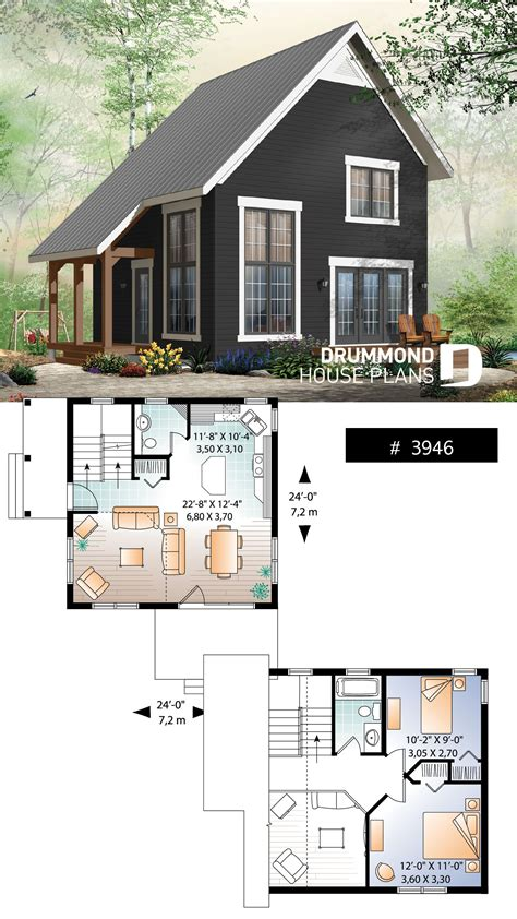 bedroom transitional style cottage design