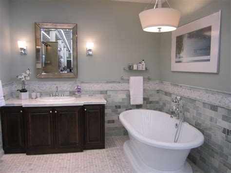 Great Bathroom With Freestanding Tub Featuring White
