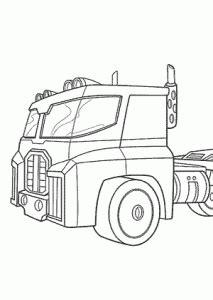 optimus prime bot coloring pages  kids printable
