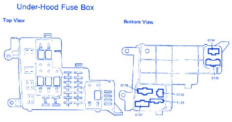 Honda Accord Under Hood Fuse Box Block Circuit