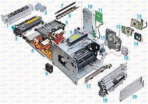 Parts Diagram For Laserjet 4250  4350