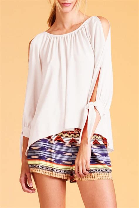 Boat Neck With Front Open by Tyche Open Sleeve Boat Neck Blouse From Miramar By