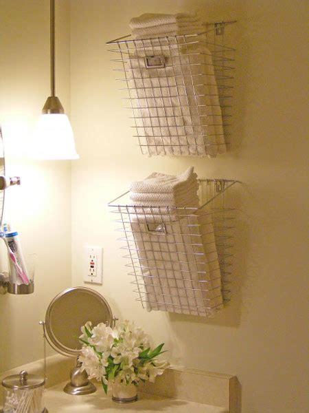 Bathroom Towel Storage 12 Quick, Creative & Inexpensive Ideas