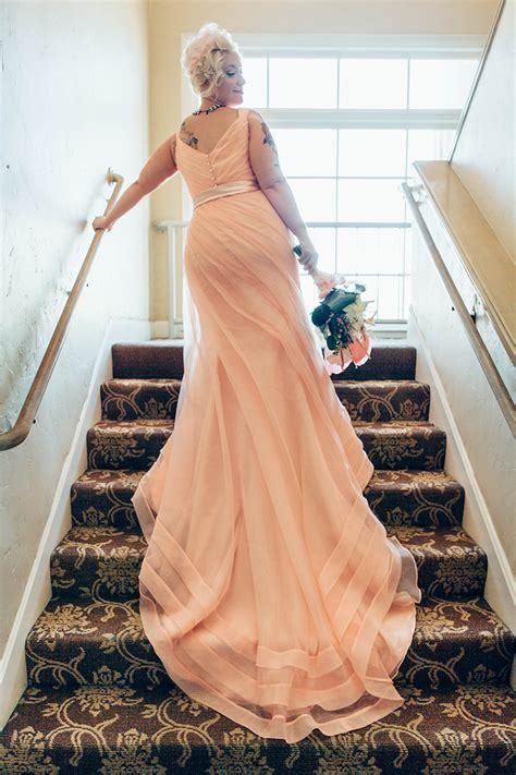 pastel pink wedding dresses     signature color
