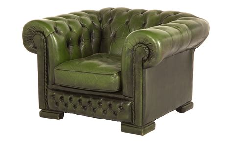 vintage green leather chair jayson home