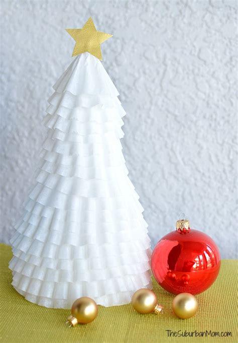 easy coffee filter christmas tree craft