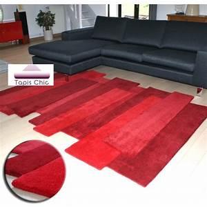 tapis contemporain pebbles par angelo rouge With tapis salon contemporain