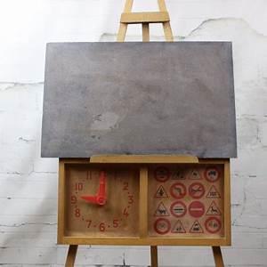 Tableau Enfant Bois : tableau d 39 cole vintage ann es 50 60 pour enfant en bois et ardoise ~ Teatrodelosmanantiales.com Idées de Décoration