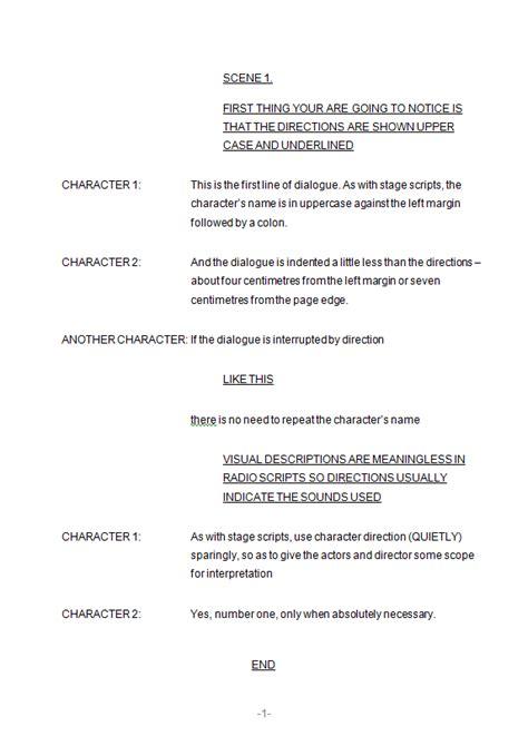radio script template writing mc the writer page 2