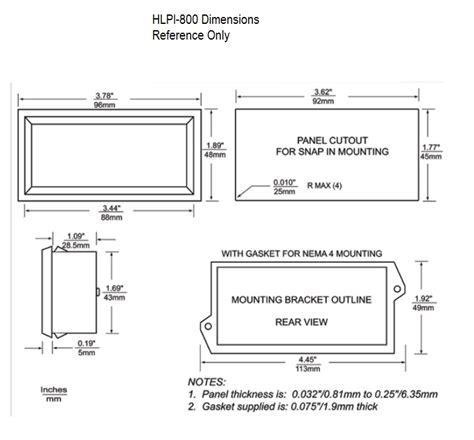 Hvpi Series Voltage Powered Lcd Digital Panel Meter