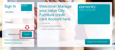 value city furniture comenity credit card login payments