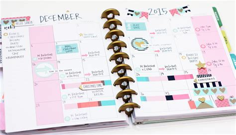 monthly planner sticker the happy planner two december monthly layouts me