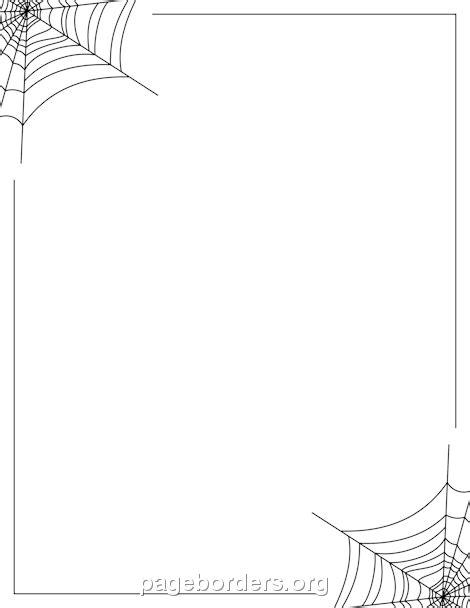 spider web border clip art page border  vector graphics