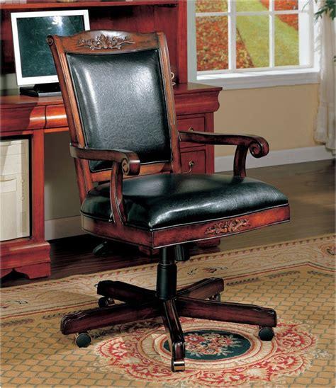 Antique Wooden Desk Chair On Wheels  Interior Design Ideas