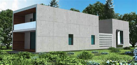 concrete modular villas  mallorca   concept  modern architecture property  sale