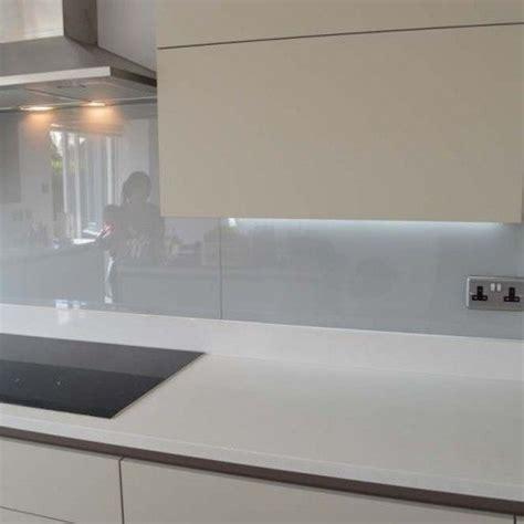 kitchen splashback ideas uk light grey glass kitchen splashback by creoglass design