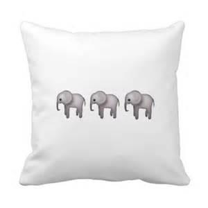 Emoji Elephant Pillow