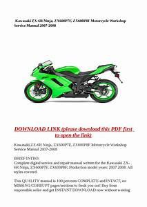 Kawasaki Zx6r Service Manual Pdf