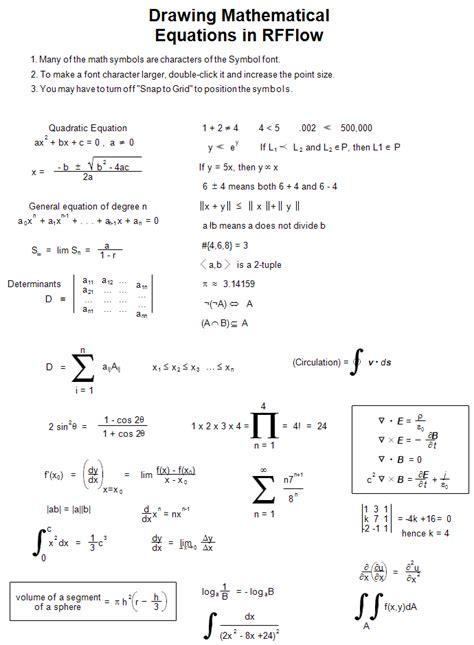 drawing mathematical equations  rfflow
