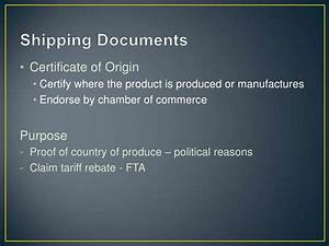 Import & export presentation