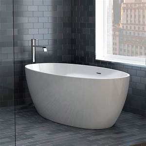Aria, Voce, Petite, 55, Inch, Acrylic, Double, Ended, Freestanding, Bathtub