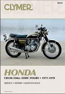 Honda Cb350-550cc Fours Repair Manual 1971-1978