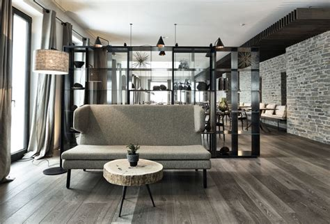 The stone as unique with special texture and colors, used for thousands of years, is one of the oldest materials for construction. Elegant Hotel in Austria - InteriorZine