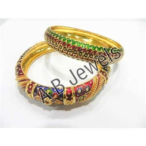 meenakari gold bangles view specifications details