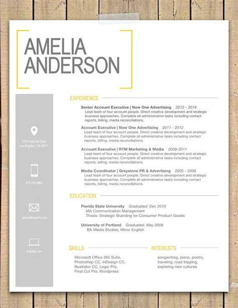 resume template  sara modern resume template