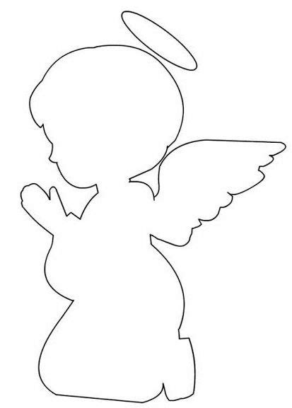Angel Praying Silhouette Template Oh My First Communion