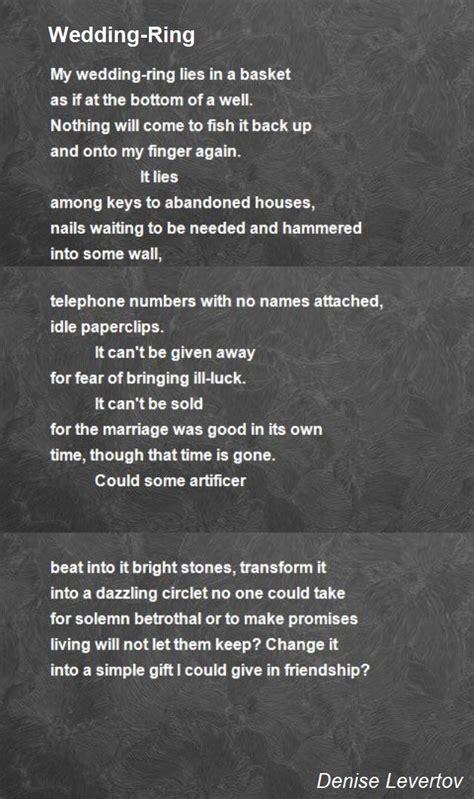 wedding ring poems wedding ring poem by levertov poem hunter
