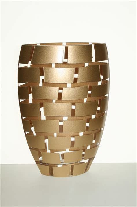 Gold Leaf Vases by Blown 12 Quot Vase With Gold Leaf Decor On Walls