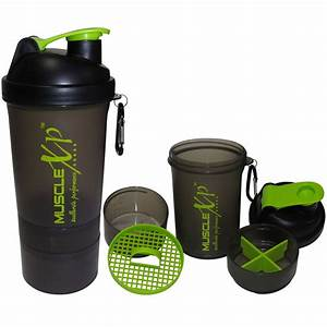 Musclexp Smart Advanced Gym Shaker  Transparent Black  With Strainer 500ml