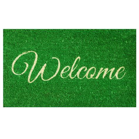 Green Doormat by Green Welcome Doormat Callowaymills