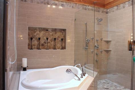 corner soaker jet tub contemporary bathroom