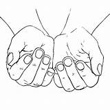 Hands Cupped Praying Coloring Pages Open Female Drawing Hand God Jesus Template Drawings Sketch Getdrawings Place Heart sketch template