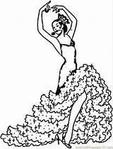 Coloring Spanish Flamenco Spain Coloringpages101 sketch template