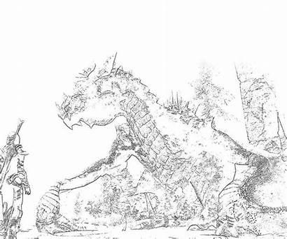 Skyrim Coloring Dragon Elder Scrolls Meet Pages