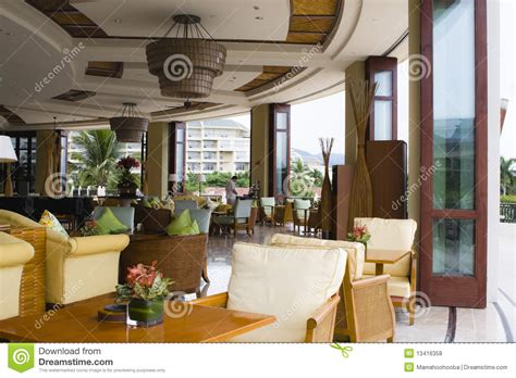 hotel lobby coffee shop  bar stock photo image