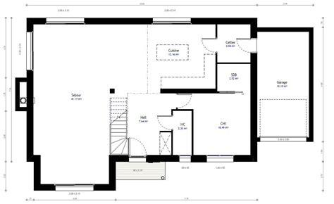 rangement cellier cuisine plan maison individuelle 4 chambres 60 habitat concept