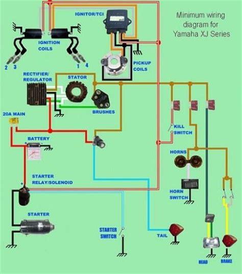 Wiring Diagram Virago Bobber by Yamaha Xj Series Minimum Wiring Diagram Moto Repair