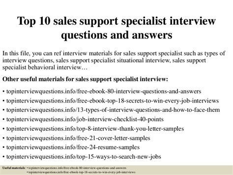 top  sales support specialist interview questions