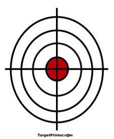 printable crosshair bullseye shooting target