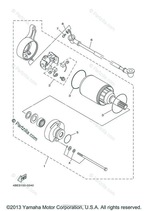 Yamaha Motorcycle Oem Parts Diagram For Starting