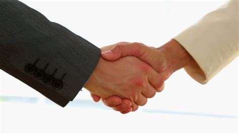 business people shaking hands  stock footage video