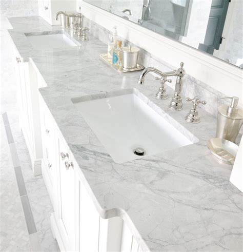Marble Vs Granite Bathroom Countertops by Carrara Marble Bathroom Bathroom Traditional With Bianco